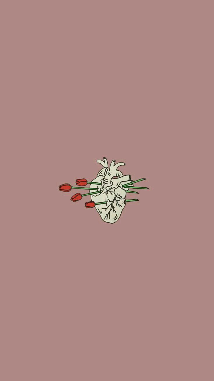 Heart Rose Iphone Wallpaper Wallpaper Aesthetic Tumblr