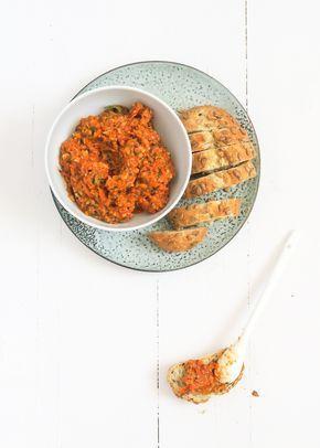 Tomatentapenade recept van uitpaulineskeuken gemaakt in juli 2016 voor een verjaardag heerlijk en simpel te maken