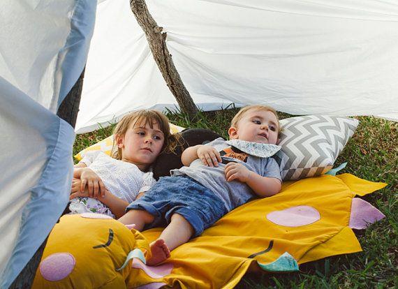 Sun blanket outdoor kids playmat unique handmade design