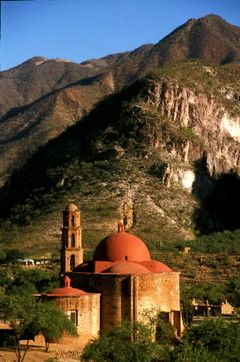 "Copper Canyon: ""Lost Cathedral"" a 300 yr. old church at the bottom of the canyon, Batopilas, Mexico"