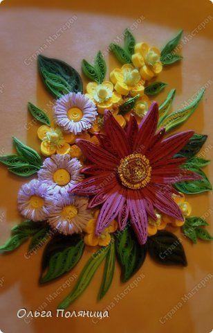 Pictura murala desen flori Quilling Quilling hârtie de vară fotografii 3