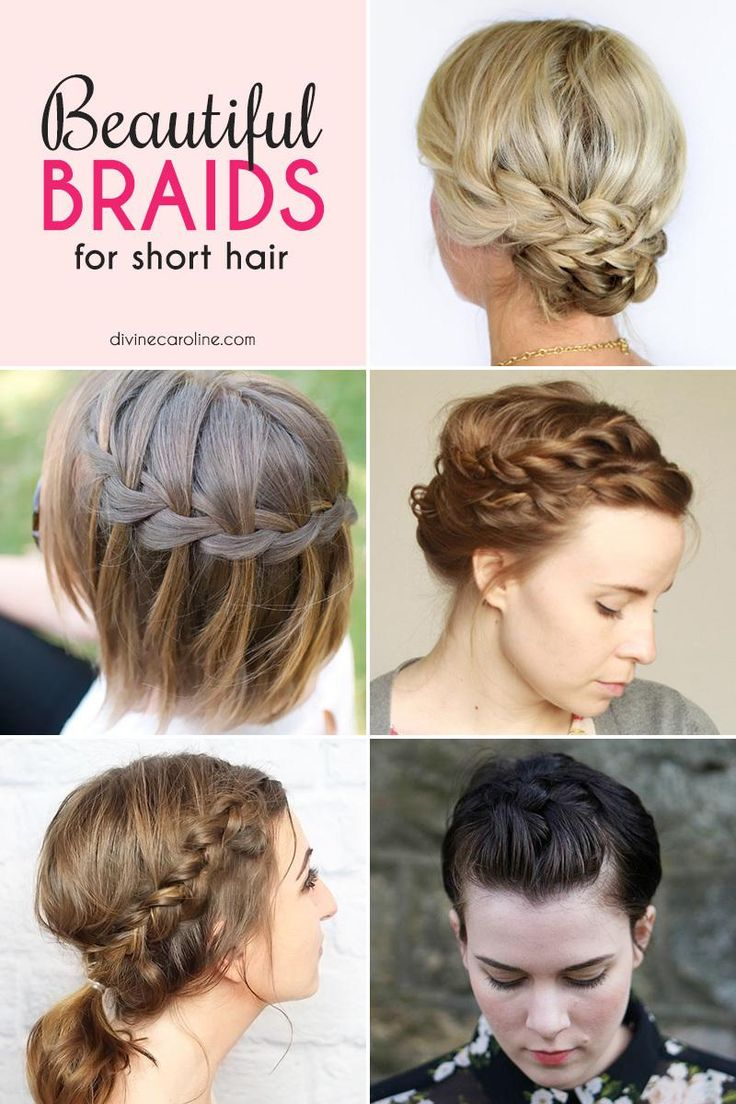 11 Beautiful Braids for Short Hair | Updo, Your hair and ...