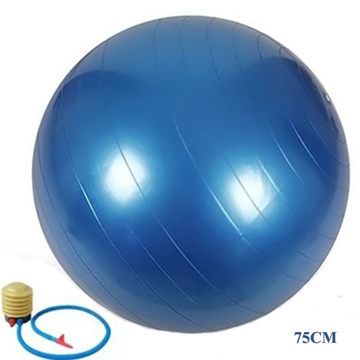 75Cm PVC Explosion-proof Yoga Ball Slimming Ball Pregnant Midwifery Birth Ball High-quality Fitness Ball+ Free 1 Pump Air