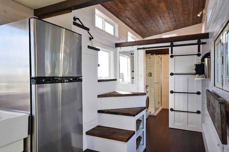 A custom tiny home built by Tiny Living Homes in Delta, British Columbia, Canada. (pinned by haw-creek.com)