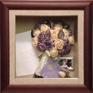 Framed Wedding Memories  Invitation and Bouquet!