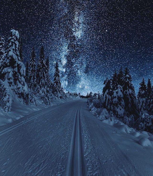 Snowy Night Photography 6 Nightphotography Winter Scenery Nature Photography Scenery