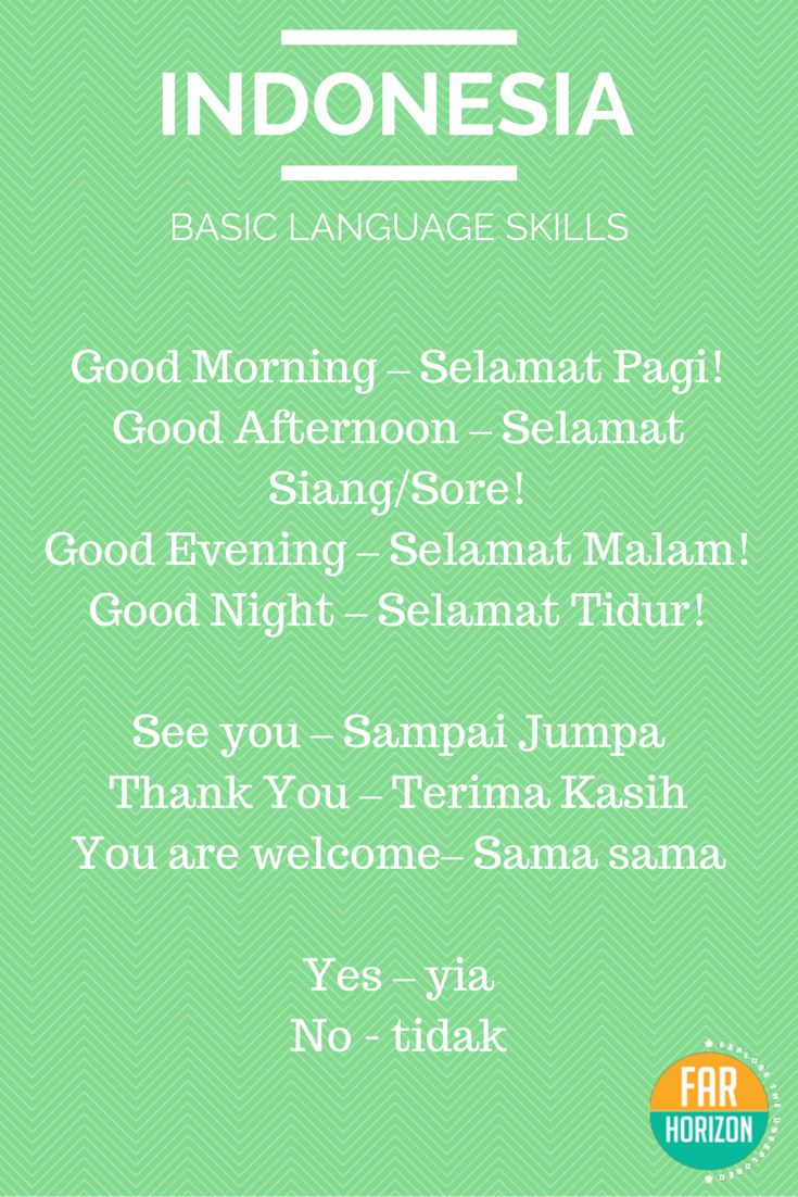 REBLOGGED - Bahasa Indonesia - Basic Indonesian Words. #indonesian #language #bahasa…