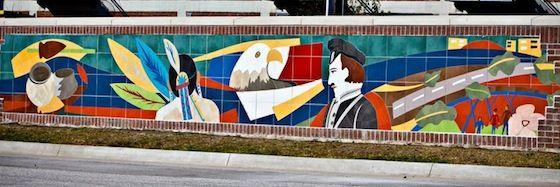 "Mural ""Birthplace of Des Moines"", Principal Park"