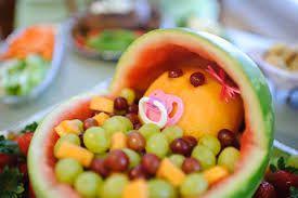 Resultado de imagen para decoracion de frutas para baby shower