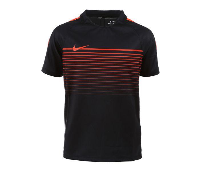 Nike - Squad Dry SS Top | | Svart/Orange | Sportamore.no