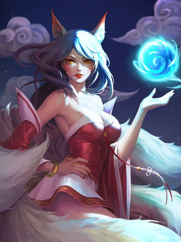 League of Legends Ahri fanart