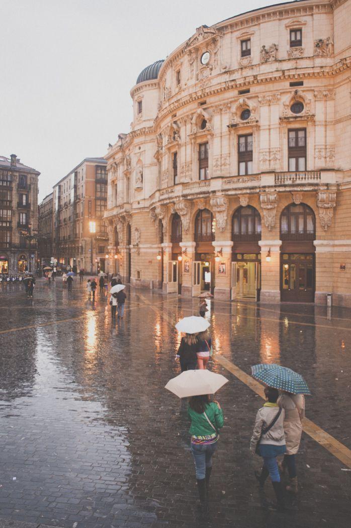 Walking the Rainy Streets of Bilbao Spain   photography by http://kerrymurray.com/