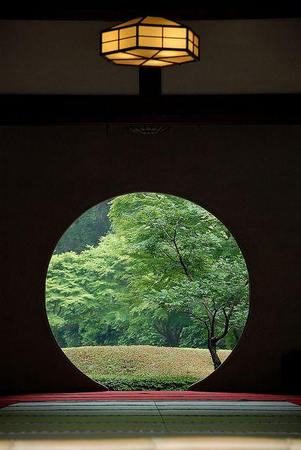 JP: Spring view from the same window of Meigetsu-in temple, Kamakura, Japan