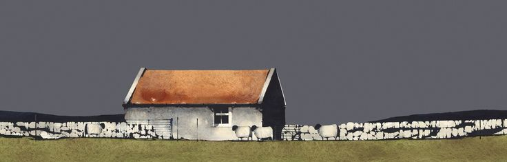Ron Lawson, Old Farm Building, Islay. SLE Print | Scottish Contemporary Art