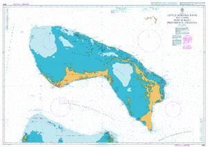 British Admiralty Nautical Chart 3910: Little Bahama Bank including North West Providence Channel
