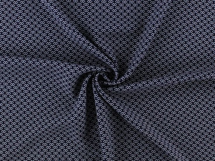 Viskose-Druck Small Drops, dunkelblau