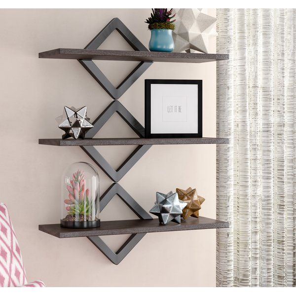 H W x 40 in DANYA B Diamonds Black Three Level Shelving System 27.5 in