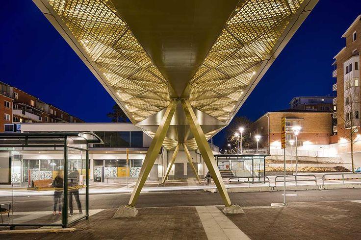 /Rinkeby bridge - lighting design by Black ljusdesign/ - lighting design - bridge lighting - perforated metal - golden light