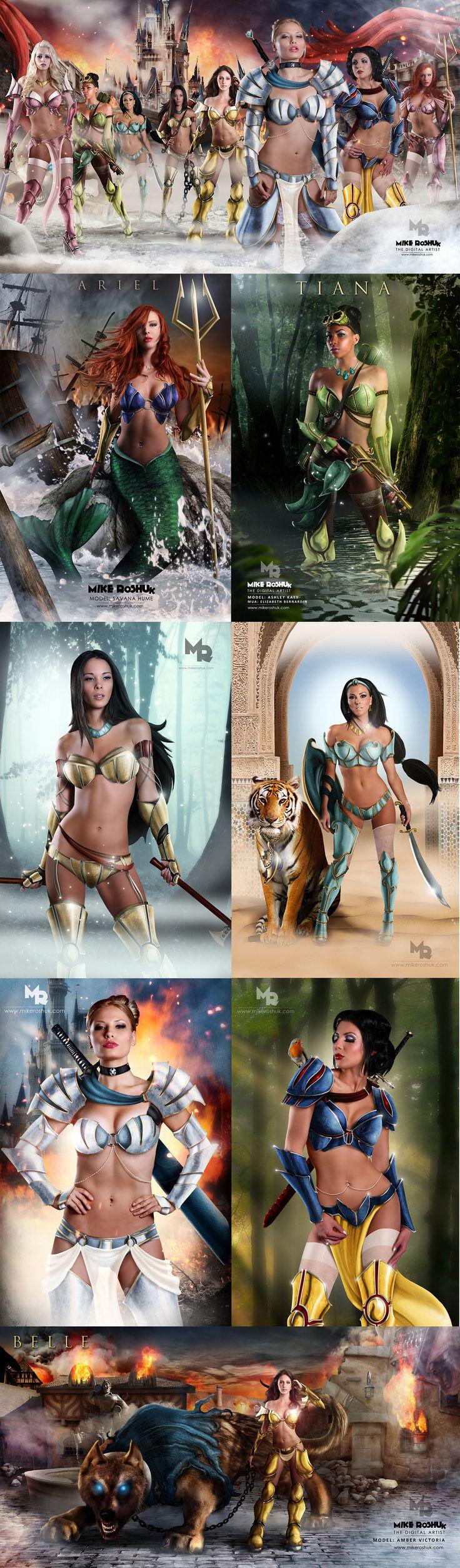 Disney Warrior Princesses by digital artist *MikeRoshuk #Cosplay