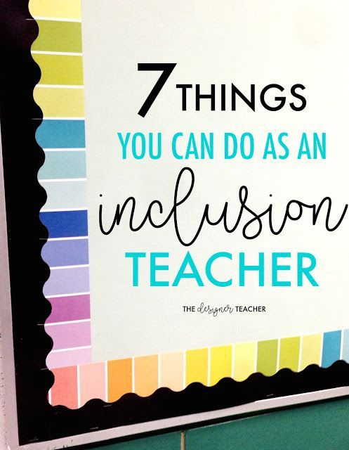 "Special education teachers, are you sick of hovering while you provide inclusion services? Find out 7 concrete things you can DO as an inclusion teacher, even if you're just ""popping in"" for a short time. Number 2 is my favorite!"