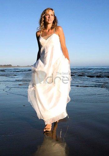 Abiti da Sposa Premaman-organza bretelle spaghetti con abiti da sposa premaman scollo a cuore