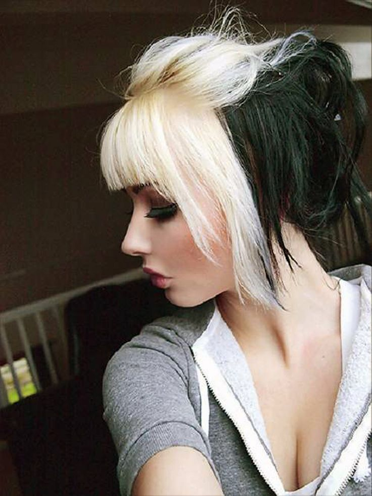 Black Hair With Blonde Bangs Pictures - Inofashionstyle.com