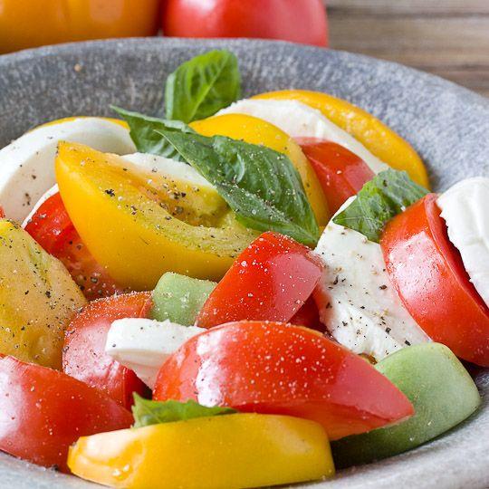 Late summer caprese salad.  Mmmmmm...