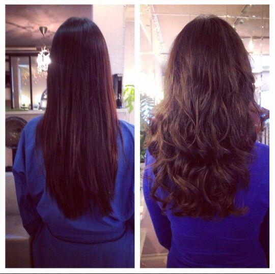 Loose curl perm b/a
