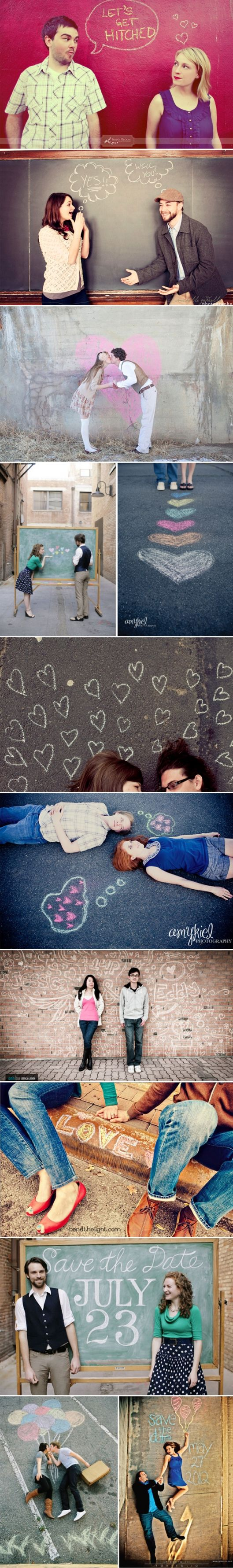 we already have our engagement photos planned out, but these are super cute