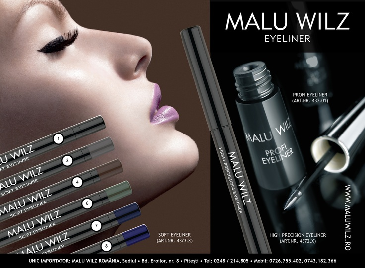 EYELINERs are available at MALU WILZ ROMANIA! MALU WILZ Products are manufactured in Germany! www.maluwilz.ro