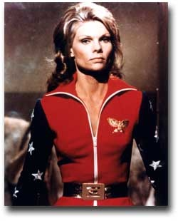 Cathy Lee Crosby as WONDER WOMAN, 1974!  (Warner Bros/DC Comics)