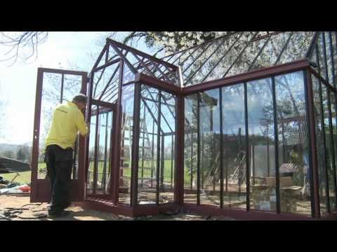 Aufbauvideo Victorian Classic Greenhouse T-Model TEIL 2 - YouTube