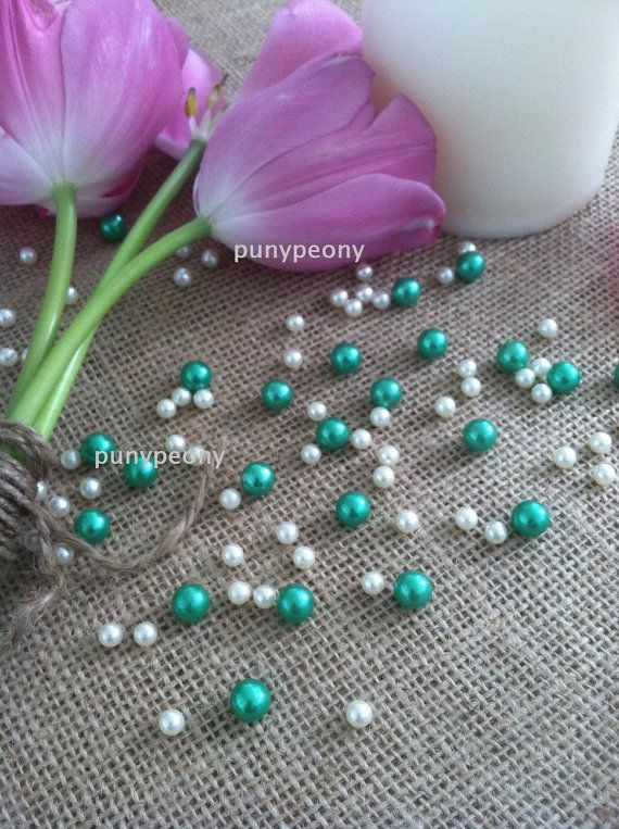 150 Pcs Pearls Ivory Kelly Lime Green For Table Ters Confetti And Wedding Decors