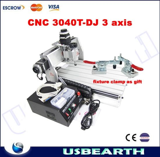 (885.40$)  Watch more here  - CNC 3040T-DJ engraving machine, CNC milling machine with fixture clamp as gift. used to fix the workpiece