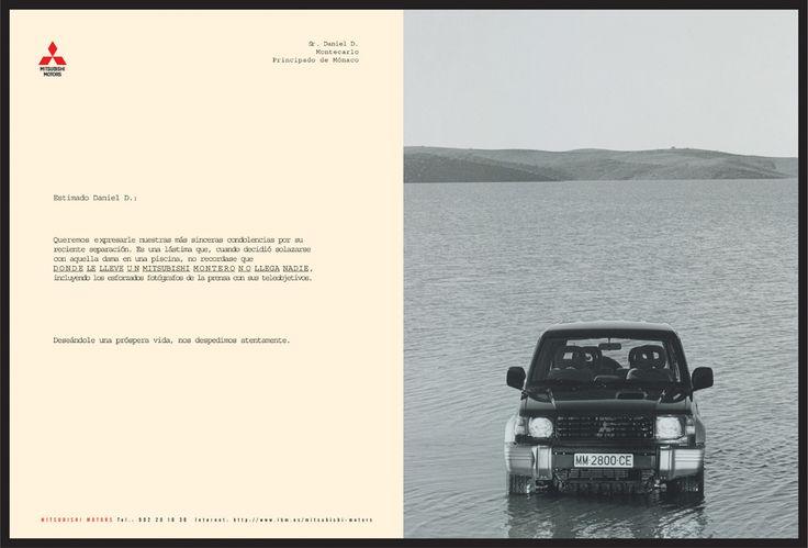 """Mitsubishi Montero """"Cartas"""" 3/4"""