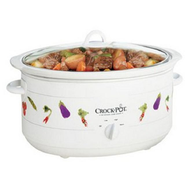Rival Crock Pot. Have one similar to this one but mine is white with green leaves.