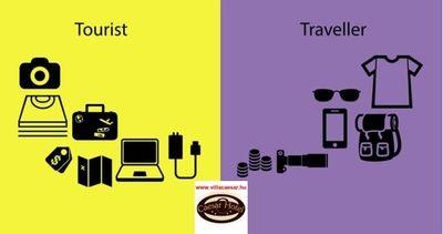A turista és az utazó is más fajta dolgokat visz magával egy #nyaralás #alkalmával. Tudja melyek ezek ?