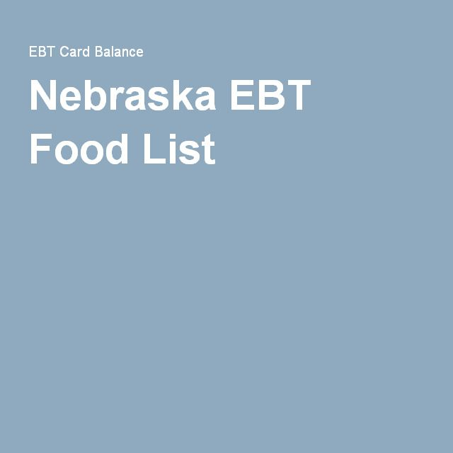 Nebraska EBT Food List  --- THIS IS WHAT YOU CAN DO WITH YOUR SNAP AND FOOD STAMPS IN OMAHA AT SHOPS THAT ACCEPT EBT. YOU CAN NOW BUY FRUIT PLANTS AND VEGETABLE PLANTS, FRUIT SEEDS AND VEGETABLE SEEDS AND THIS MAY INCLUDE FRUIT PRODUCING TREES AS WELL. peace, love, and have fun. B :-)