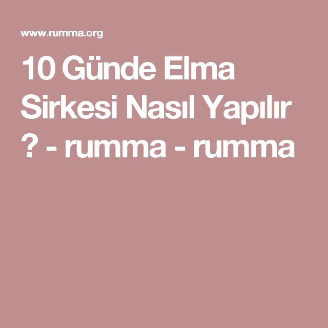 10 Günde Elma Sirkesi Nasıl Yapılır ? - rumma - rumma