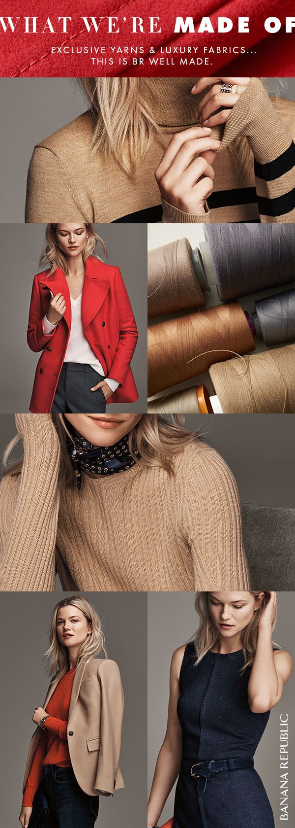 Good looks aren't everything-it's what's on the inside that counts. Discover exclusive Italian yarns and luxurious fabrics in our BR Well Made collection. These are timeless styles to covet, crafted to stand the test of time.