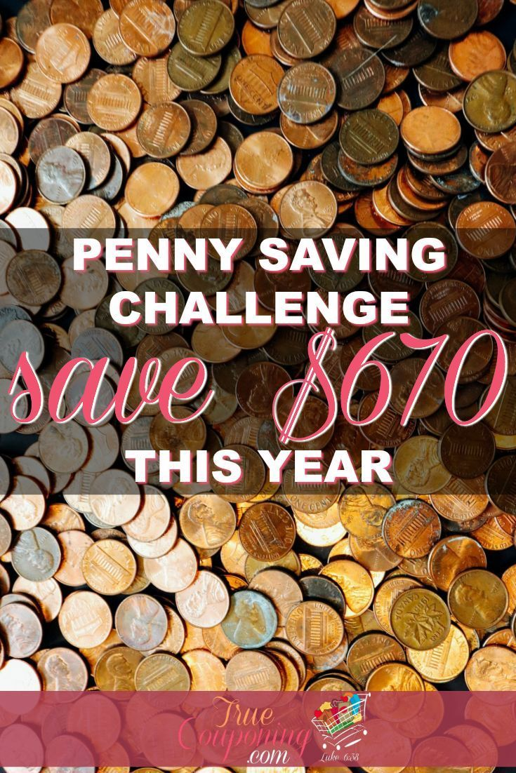 Penny Saving Challenge – Save $670 This Year Collecting Pennies! Saving money does not mean going broke every day! Try the #Penny #Saving #Challenge and save $670 this year!