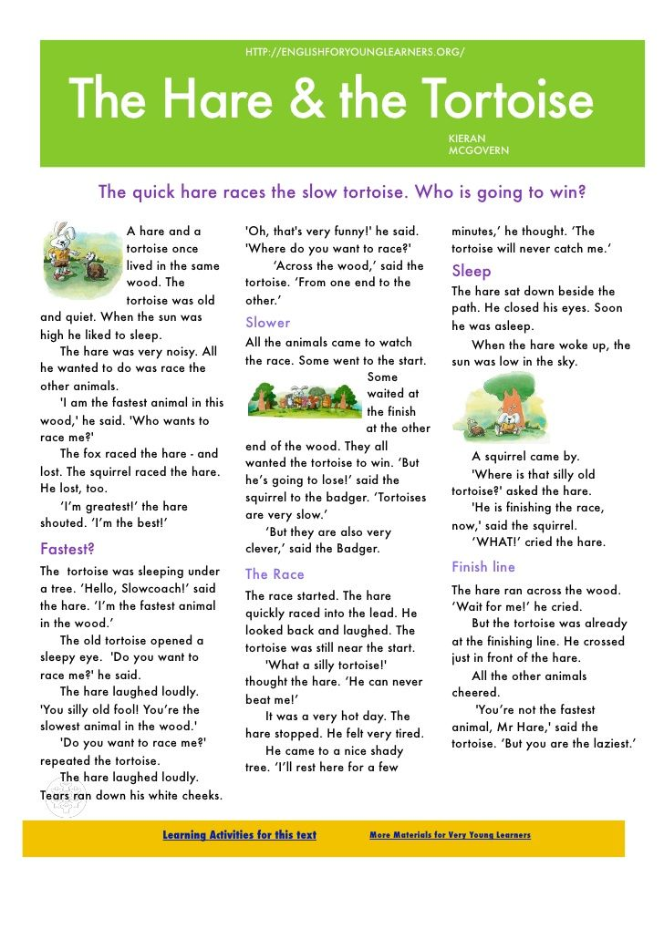 Image Result For Rabbit And Tortoise Story In English Pdf With