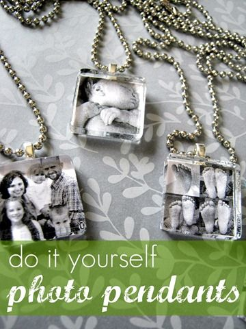 Great DIY gift idea photo pendant