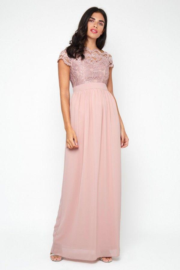 5b987a367b96 TFNC Abilina Pale Mauve Maxi Dress Lace Bridesmaid Dresses, Wedding Dresses,  Party Dresses,