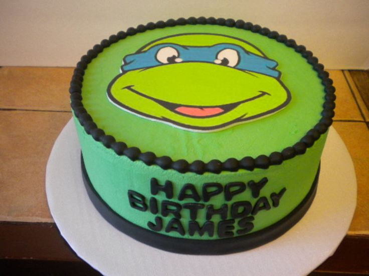 ... Cakes on Pinterest  Ninja turtle birthday cake, Tmnt cake and Ninja