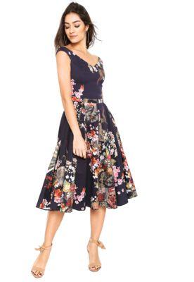a0ab412e2 Vestido Lez a Lez Midi Japonês Azul-Marinho | Fashion | Fashion, Dresses e  Fancy