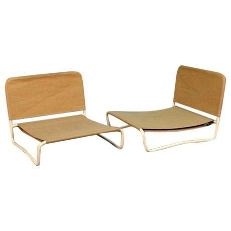 Image of Mid-Century Outdoor Lounge Chairs - Set of 4