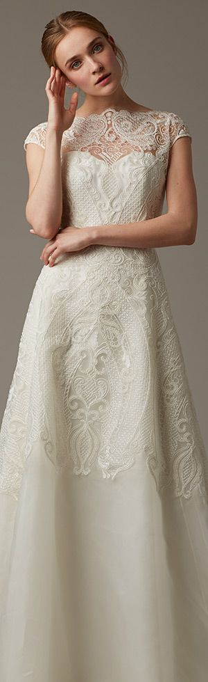 Lela Rose A-line wedding dress