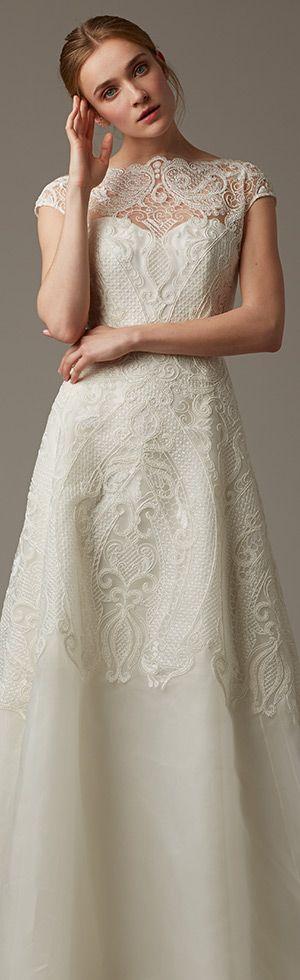 Lela Rose A-line wedding dress