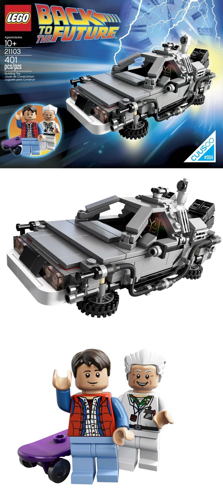 LEGO 21103 Back to the Future official images...1st Lego I built to celebrate new position w Microsoft